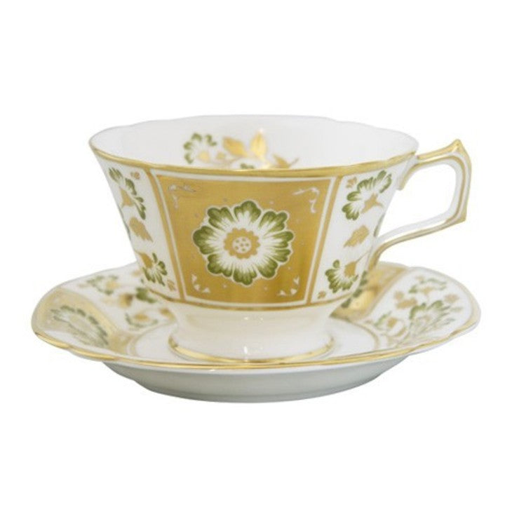 Royal Crown Derby Panel Tea Cup, Green