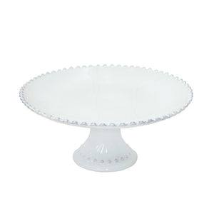"Costa Nova Pearl 11"" Footed Cake Plate"