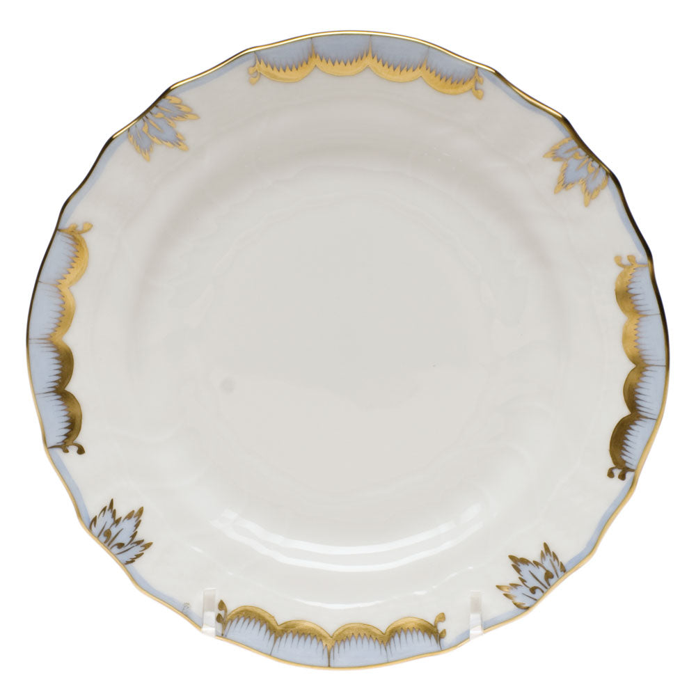 Herend Princess Victoria Bread and Butter Plate, Light Blue