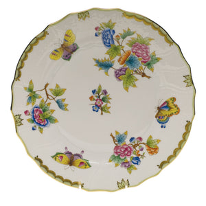 Herend Queen Victoria Dinner Plate, Green Border