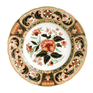 Royal Crown Derby Imari Accent Plate, Pink Camellia
