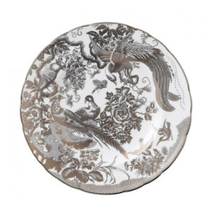 Royal Crown Derby Platinum Aves SaladPlate