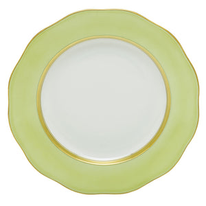Herend Silk Ribbon Dessert Plate, Lime