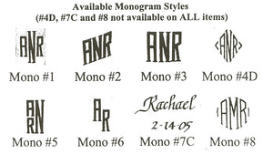 Monogrammed All Purpose Beverage Glass