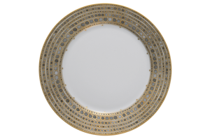 Mottahedeh Syracuse Taupe Dinner Plate