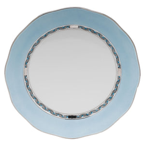 Herend Silk Charger/Presentation Plate, Turquoise & Platinum