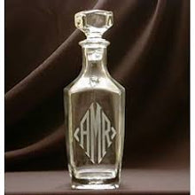 Load image into Gallery viewer, Monogrammed 32oz Square Decanter