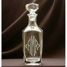 Monogrammed 32oz Square Decanter