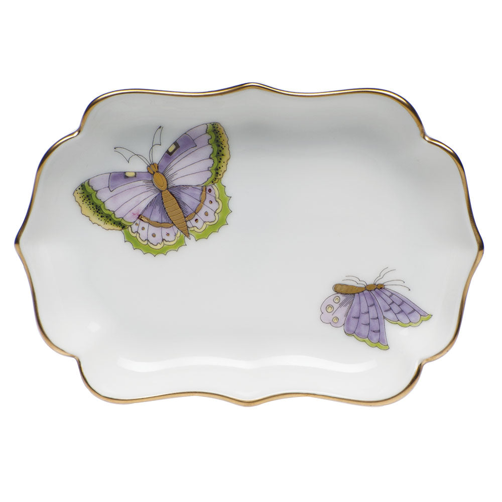 Herend Mini Scalloped Tray, Royal Garden Butterflies
