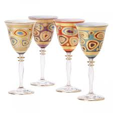 Vietri Regalia Wine Glass, Aqua