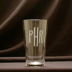 Monogrammed 16oz Pub Glass