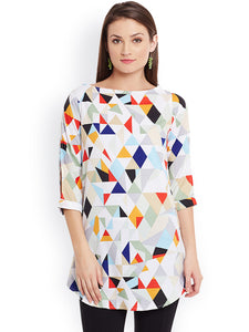Queen ellie Multicoloured Printed Kurti