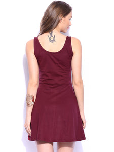 Queen ellie Maroon Skater Dress