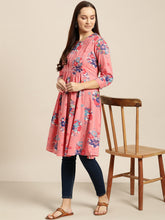 Load image into Gallery viewer, Queen ellie Pink & Blue Printed Tunic