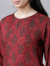 Load image into Gallery viewer, Queen ellie Maroon Printed Tunic