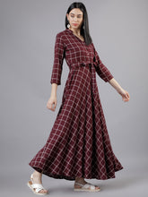 Load image into Gallery viewer, Queen ellie Women Maroon Maxi Dress