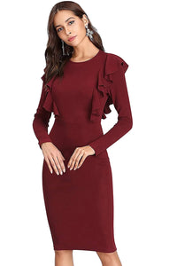 Queen elli Women's Knee Length Dress.