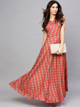 Load image into Gallery viewer, Queen ellie Women Red Printed Maxi Dress