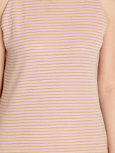 Load image into Gallery viewer, Queen ellie Women Peach-Coloured Striped Sheath Dress