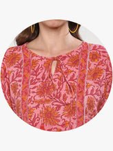 Load image into Gallery viewer, Queen ellie Women Pink & Red Printed A-Line Dress