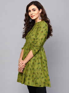 Queen ellie Women Green Printed Tunic