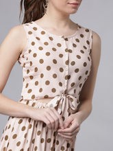 Load image into Gallery viewer, Queen ellie Women Pink & Brown Printed Fit and Flare Dress