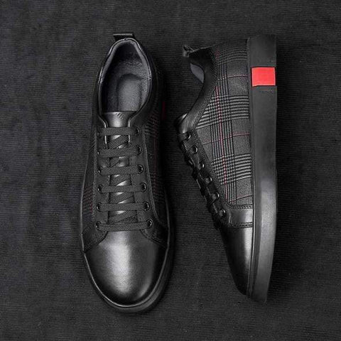 Equinox Black Leather Sneakers