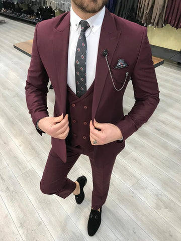 Harringate Burgundy Suit