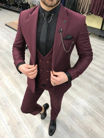 Heritage Burgundy Suit