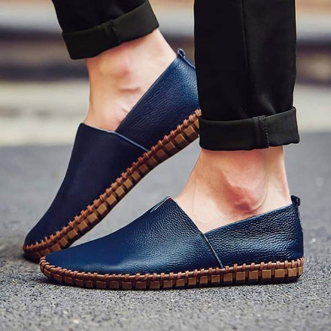 LEATHER CASUAL SLIP-ONS