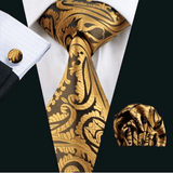 Gold Patterned Tie