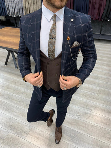 Milano Dark Navy Suit