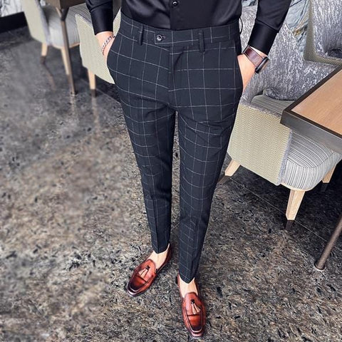 Classic Plaid Formal Pants