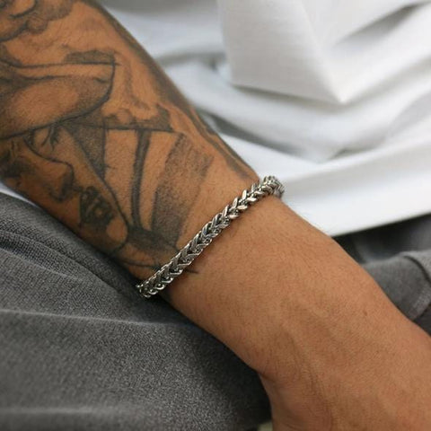 Braided Stainless Steel Bracelet