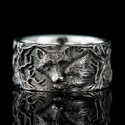 Duble Wolf Ring