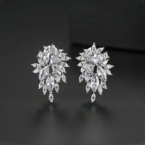 Angelic Cubic Zirconia Rodium Plated Earrings
