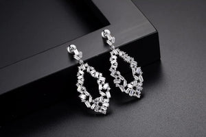 Marque Shaped Baguette Cut Earrings