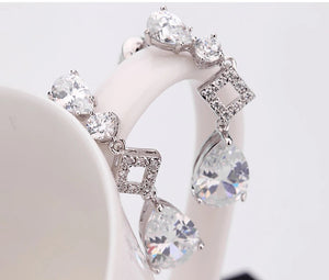 Diamonique Cubic Zirconia Drop Earrings