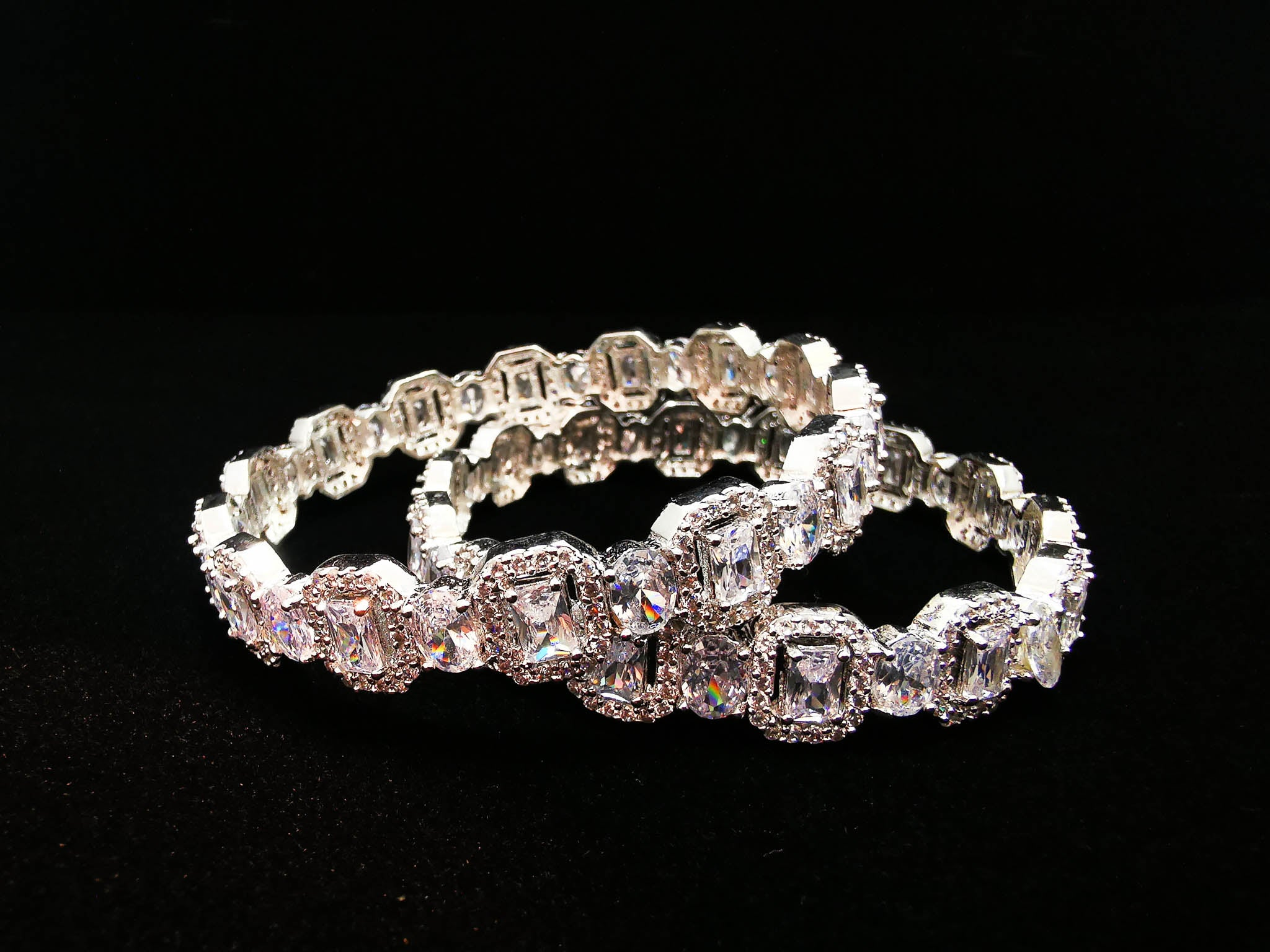 Opulence Square Cubic Zirconia Bangle