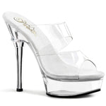 "Clear 4.5"" Heel 1/2"" Platform Band Slide"