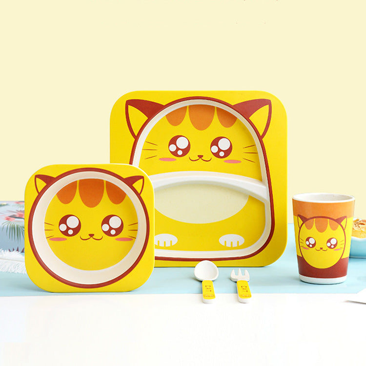 Kids Animal Bamboo Dinnerware Set | kidzful