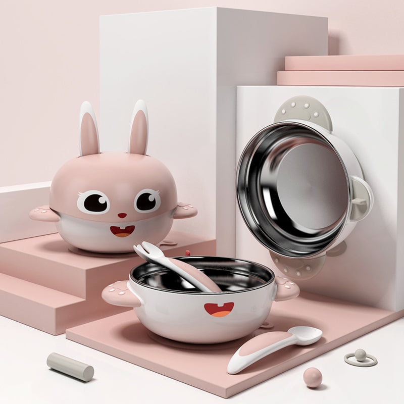 Adorable Bunny Dinnerware Stainless Steel | kidzful
