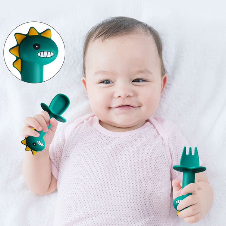 Silicone Training Utensils For Baby Led Weaning Stage | kidzful