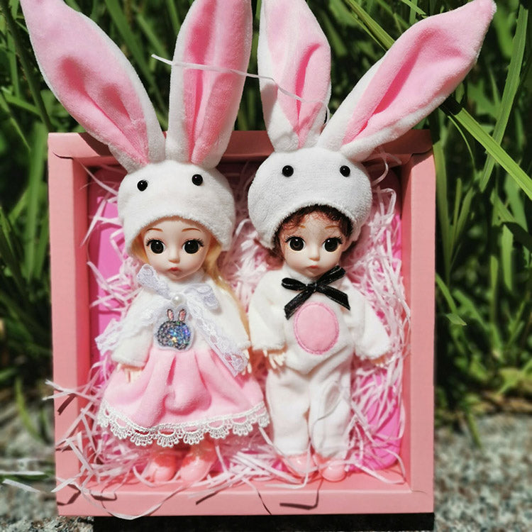 Adorable Bunny Ear Changeable Babe Doll | kidzful
