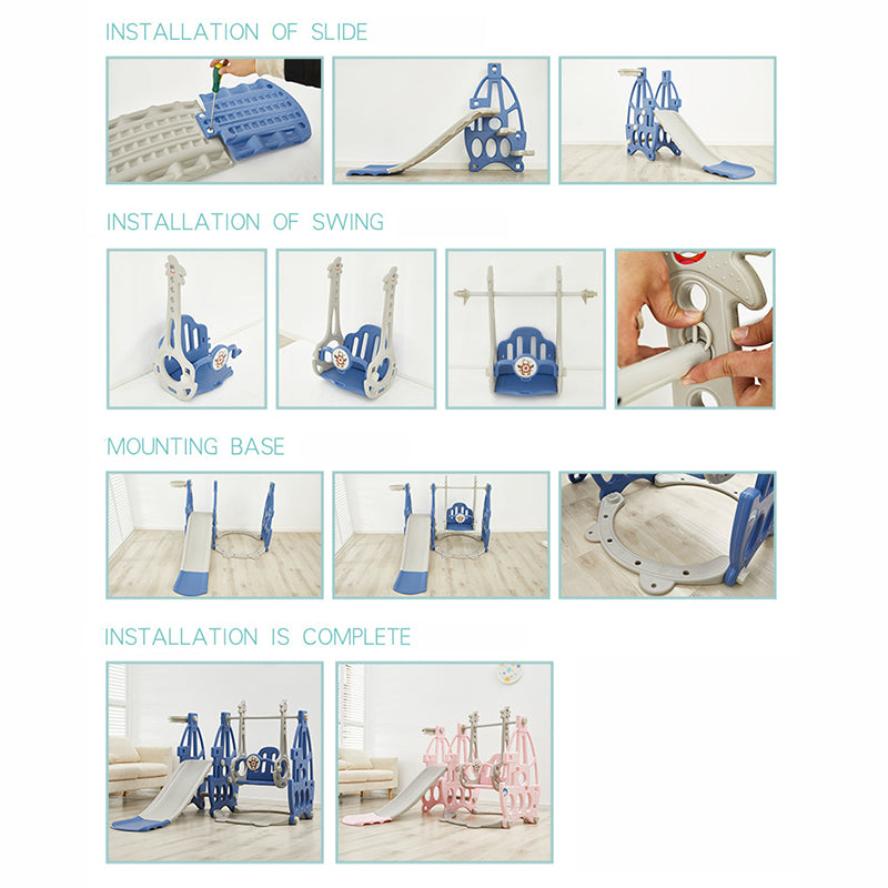 3 in 1 Swing Slides Playset for Indoor and Outdoor Play | kidzful