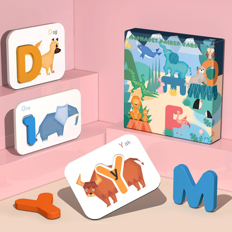 Double-Sided Alphabet Animal Cognitive Cards | kidzful