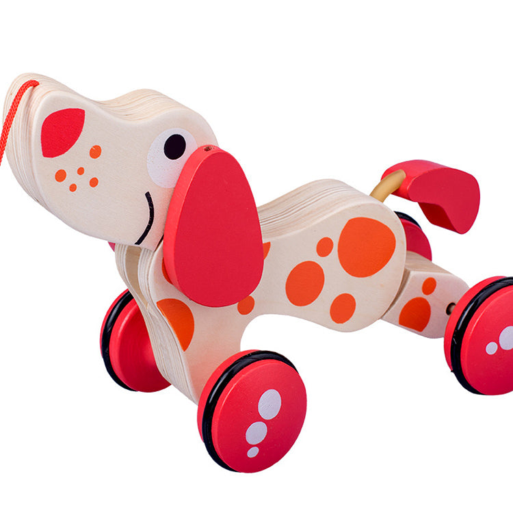Walk-A-Long Wooden Pull Toy | kidzful