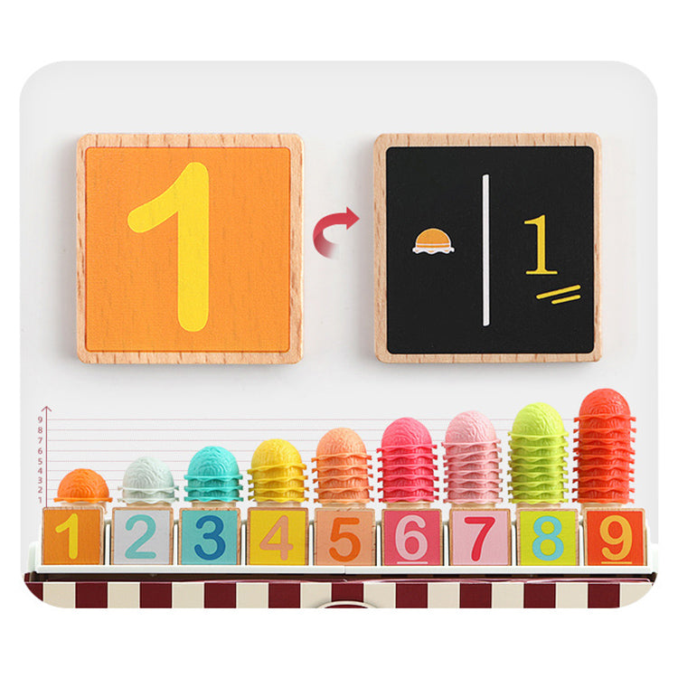 Pretend Play Ice Cream Counter Math & Cognition | kidzful