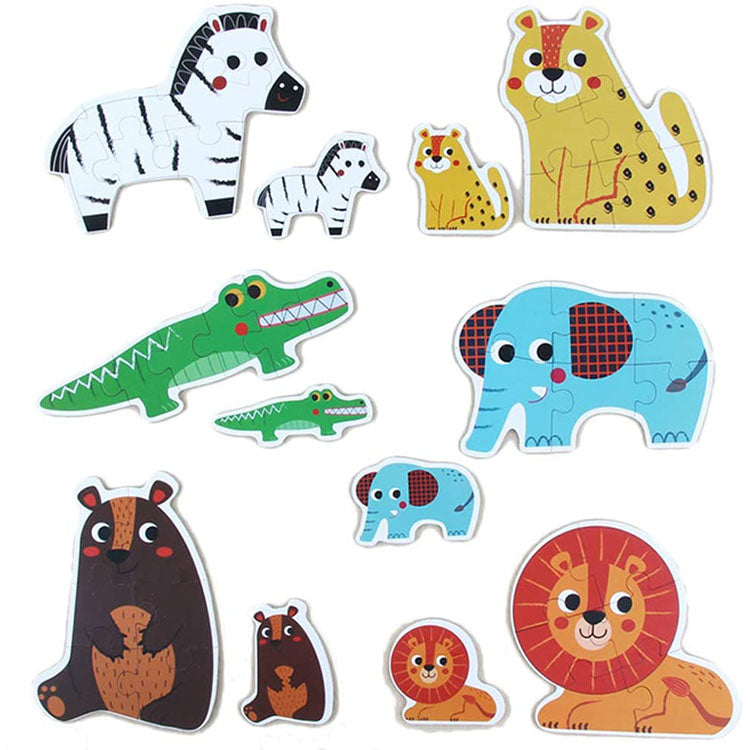 6 in 1 Lovely Animal Educational Jigsaw Puzzle | kidzful