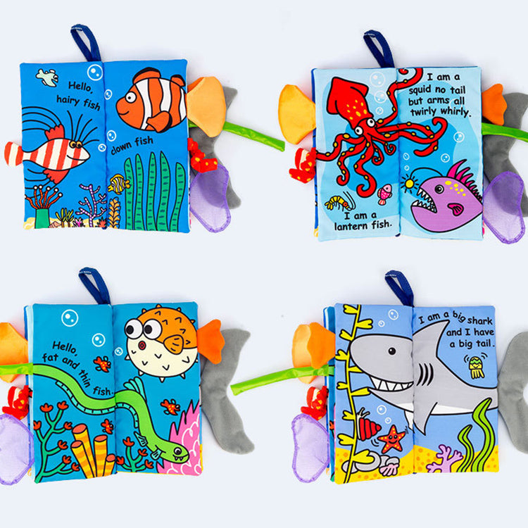 Soft Cloth Baby Books - Jungly Tails | kidzful